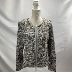 Calvin Klein Full Zip Boucle Jacket Blazer